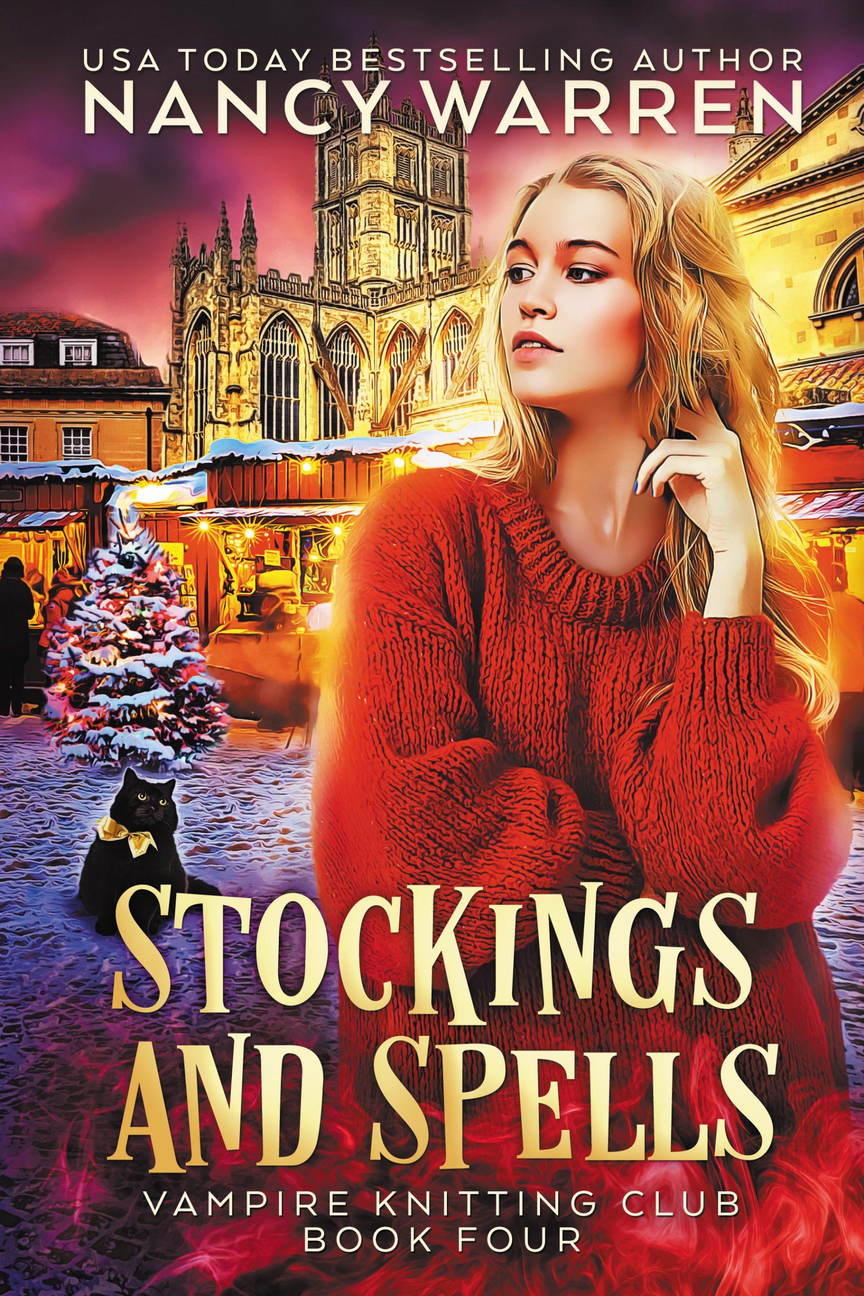 Stockings and Spells (Vampire Knitting Club Book 4)