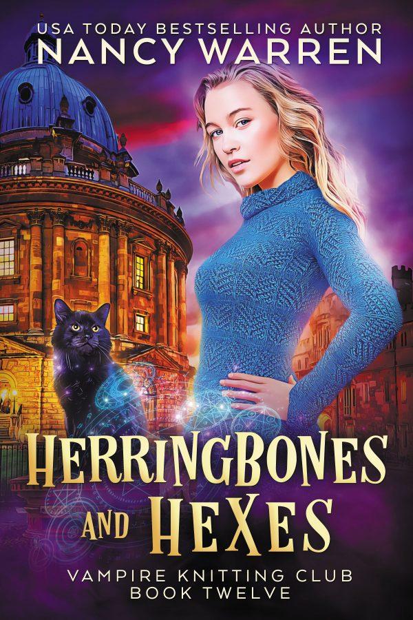 Cover Herringbones and Hexes by Nancy Warren - Vampire Knitting Club Book 12