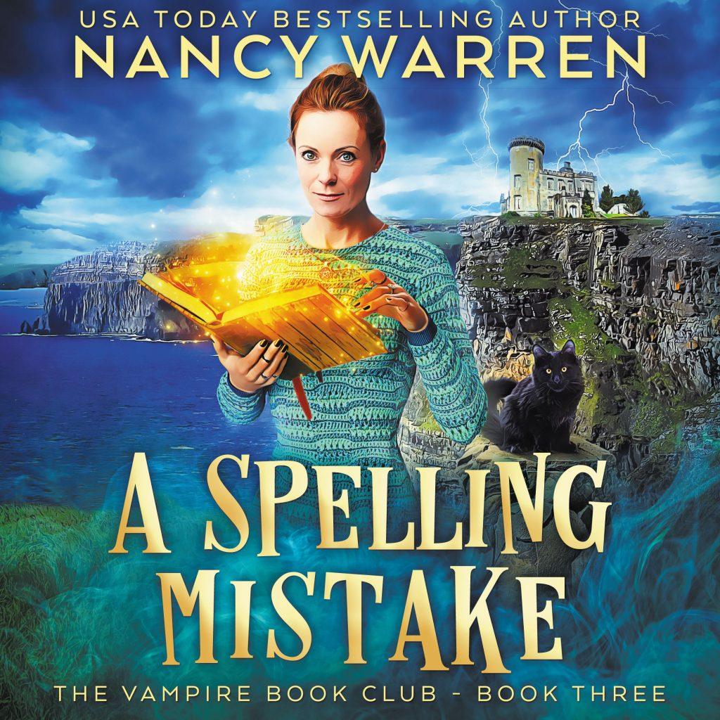 A Spelling Mistake Audiobook Cover by Nancy Warren